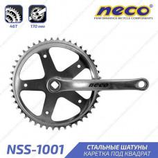 Шатуны Neco NSS-1001 1 звезда 46T 170mm серебристый