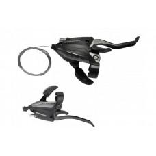 Моноблоки Tourney ST-EF500 7/3ск. + тросик серебристый