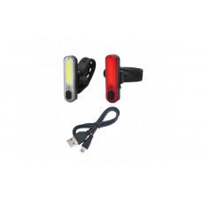 Мигалки вело (габариты) USB прямоугольные JY-6056