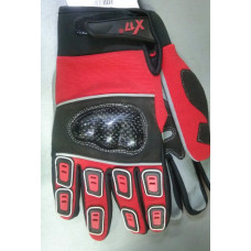 Велоперчатки XGL-751 чёрн./красные, карбоновая защита