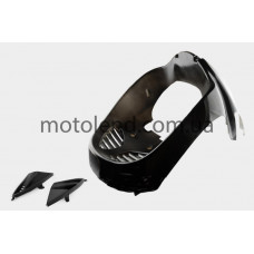 Пластик VIPER STORM 2007 передний (подклювник) (черный) KOMATCU