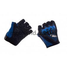 Велоперчатки (черно-синие, size L) AXE